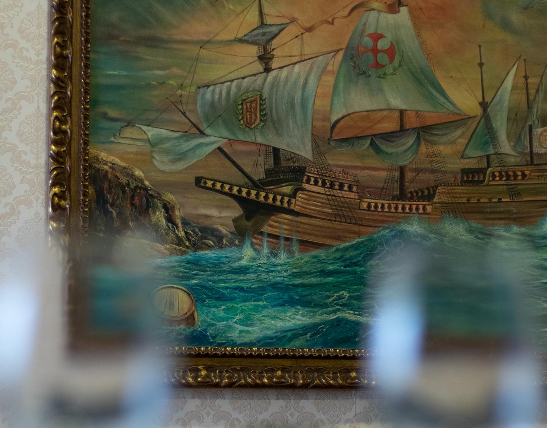 Cuadro de Barco en el restaurante El Galeón en Móstoles