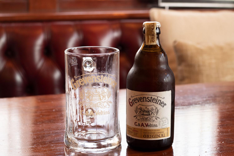 Botella de cerveza Grevensteiner
