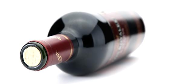 Botella de vino Denominación de Origen